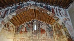 San Miguel de Barluenga, pinturas del Gótico tardío (siglo XIV) - Fuera de itinerario