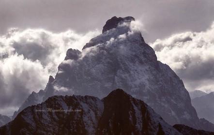 Pic du Midi d'Ossau, vertiente oriental, 1991